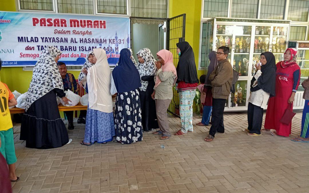 Tahun Baru Islam 1441 H dan Milad Al Hasanah ke-31, UPZ Al Hasanah Gelar Bazar 546 Paket Sembako Murah