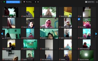 Pererat Ukhuwah Islamiyah, Keluarga Besar Al Hasanah Adakan Pertemuan Online