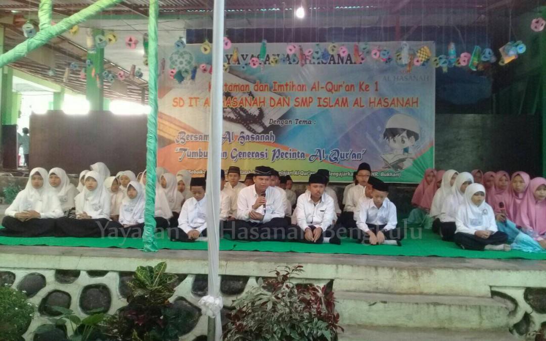 Khataman dan Imtihan Perdana Sekolah Islam Al Hasanah Bengkulu 2016