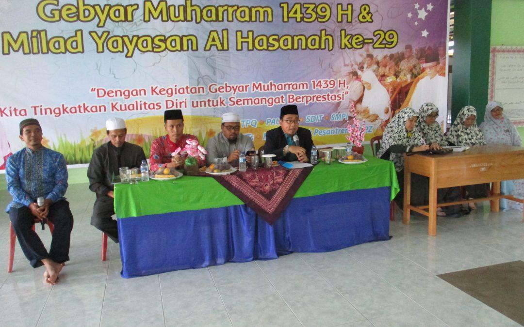 Peringatan Tahun Baru Islam 1439 H dan Milad Al Hasanah ke-29