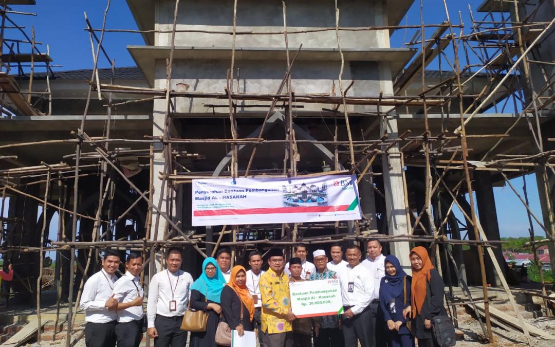 UPZ Al Hasanah Menerima Dana Bantuan Pembangunan Masjid Al Hasanah Betungan