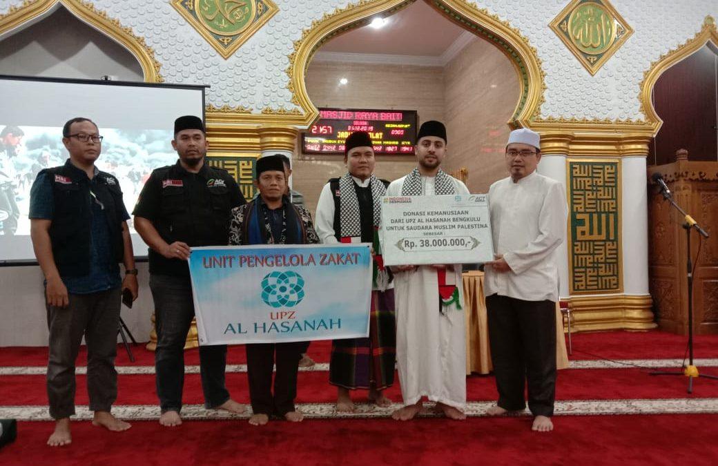 UPZ Al Hasanah Salurkan Donasi Kemanusiaan untuk Palestina