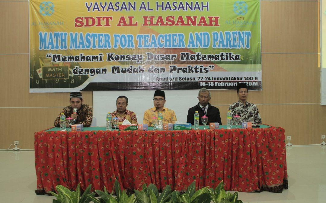 AQUATIC Selenggarakan Pelatihan Math Master bagi Seluruh Guru dan Orangtua SDIT Al Hasanah