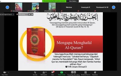 Pengajian Rutin Guru dan Karyawan Al Hasanah: Kiat Menghafal Al Quran